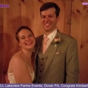 York Wedding DJ, Lakeview Farms Events, Dover PA, Congrats Kimberly & Christopher