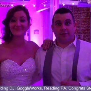 Reading Wedding DJ, GoggleWorks, Reading PA, Congrats Steve and Katie
